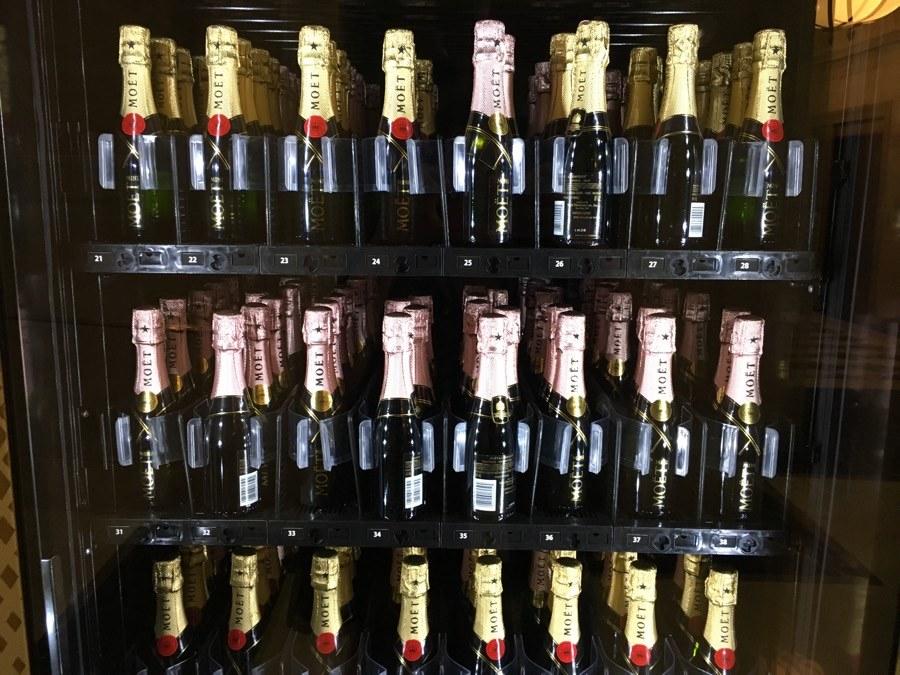 moet min-matic champagne vending machine