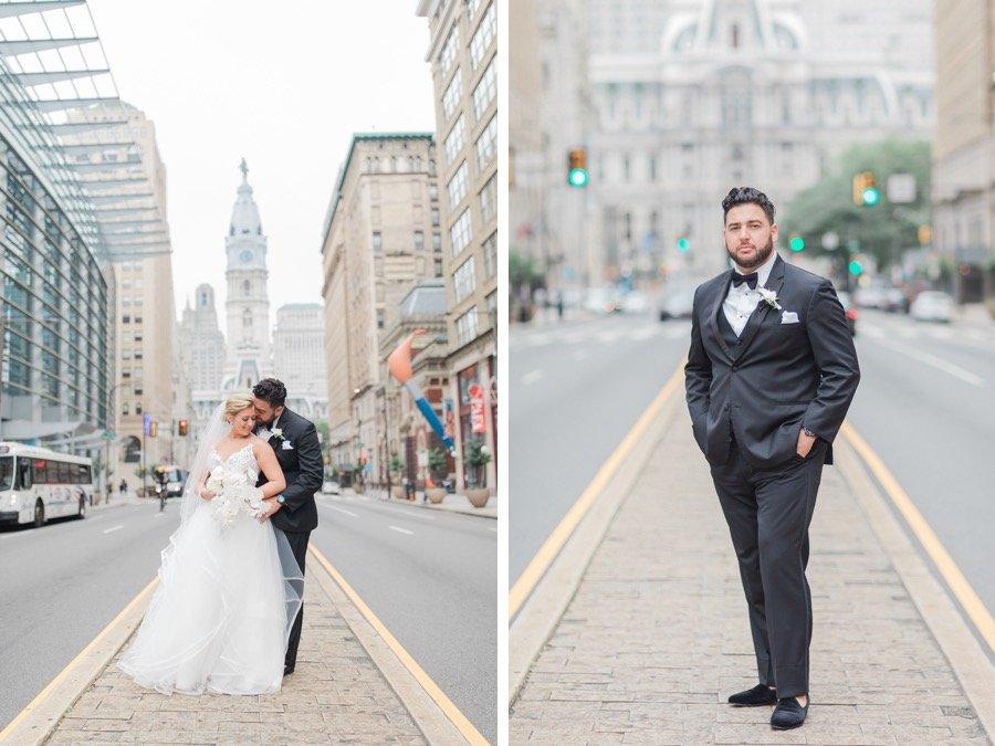 city hall philadelphia wedding portraits