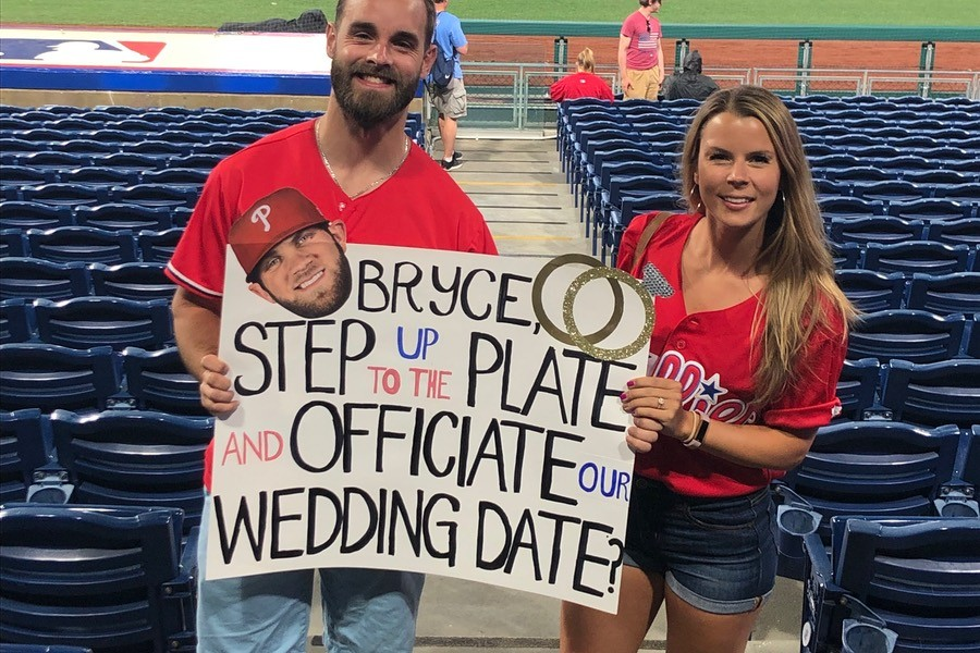 Bryce Harper Officiate Our Wedding Sign