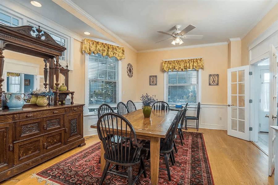 house for sale cape may painted lady dining room