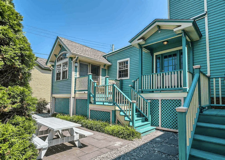 house for sale cape may painted lady cottage in rear