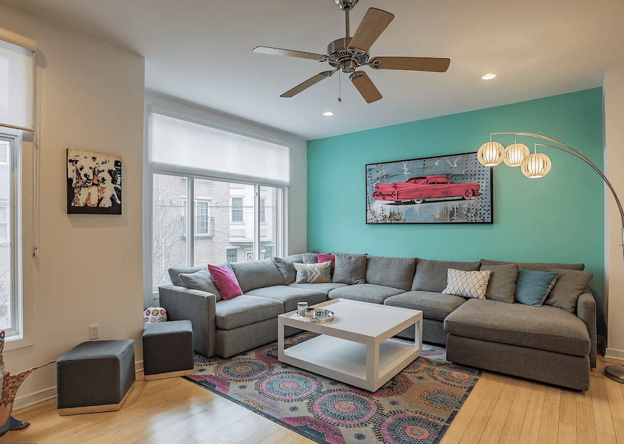 house for sale francisville contemporary row house living room