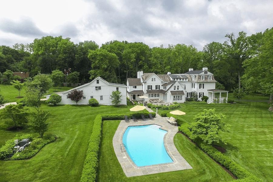 house for sale lower gwynedd expanded farmhouse backyard