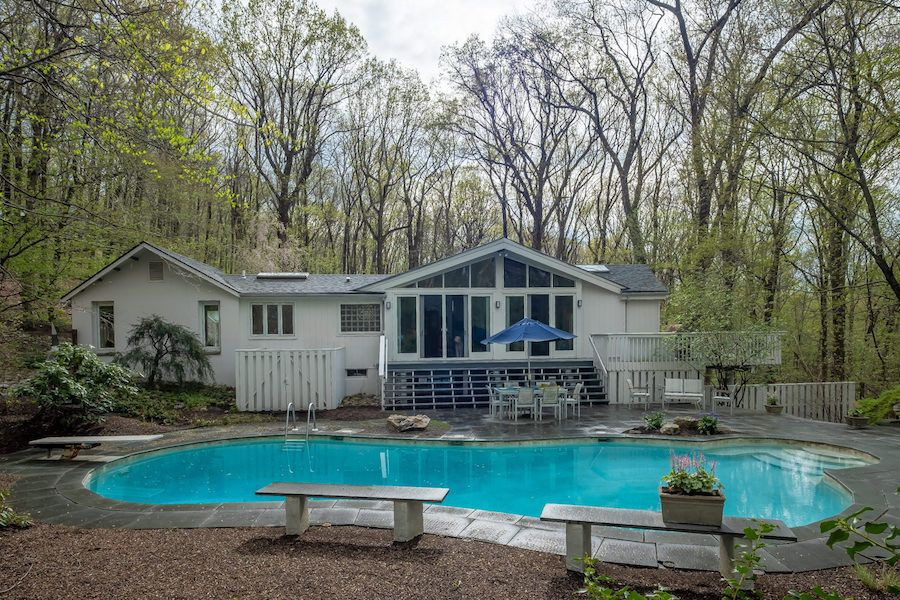 house for sale new hope contemporary rear exterior and pool