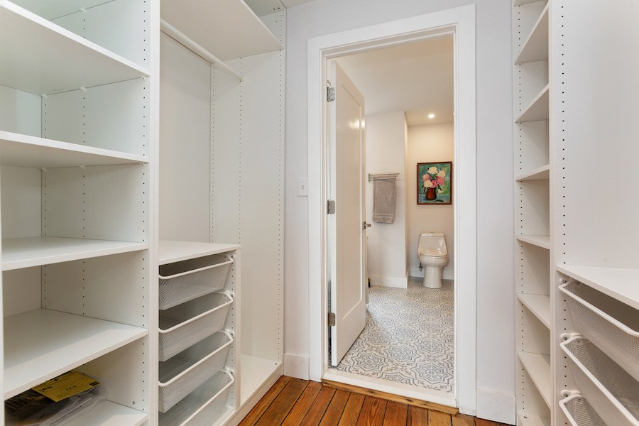 house for sale point breeze rowhouse rehab closet