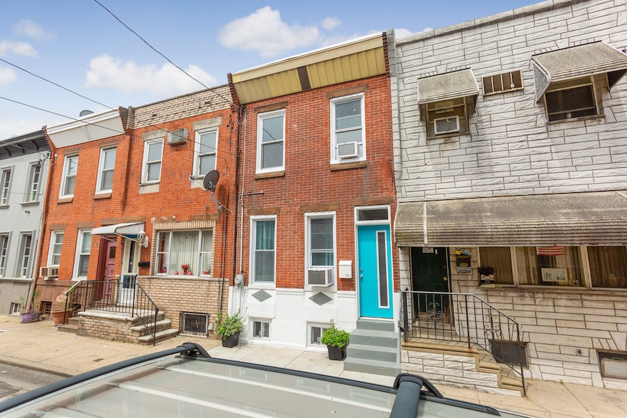 house for sale point breeze rowhouse rehab exterior front