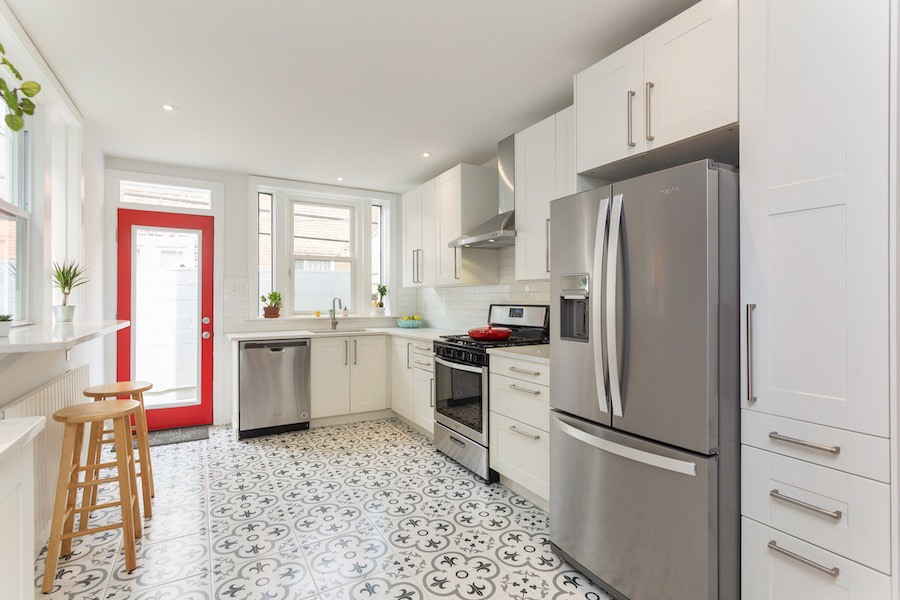 house for sale point breeze rowhouse rehab kitchen