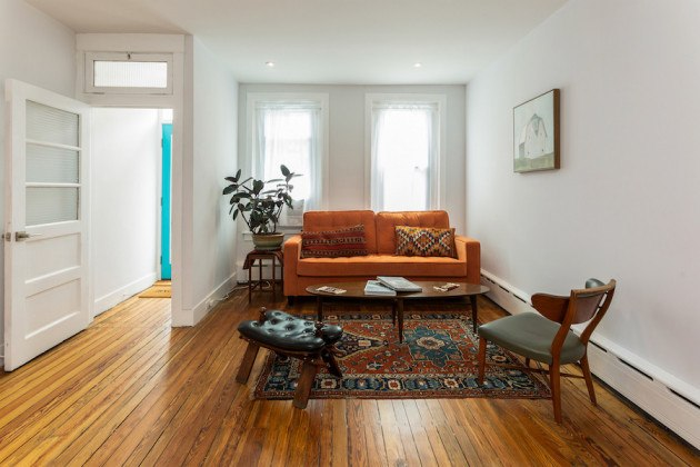 house for sale point breeze rowhouse rehab living room