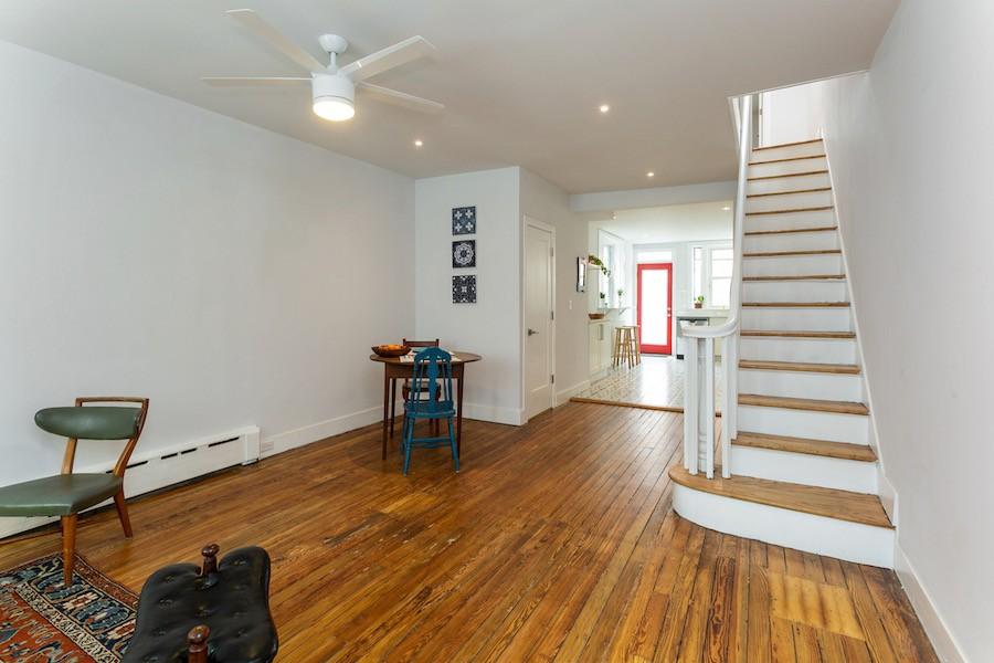 house for sale point breeze rowhouse rehab main floor