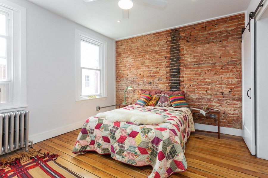 house for sale point breeze rowhouse rehab master bedroom
