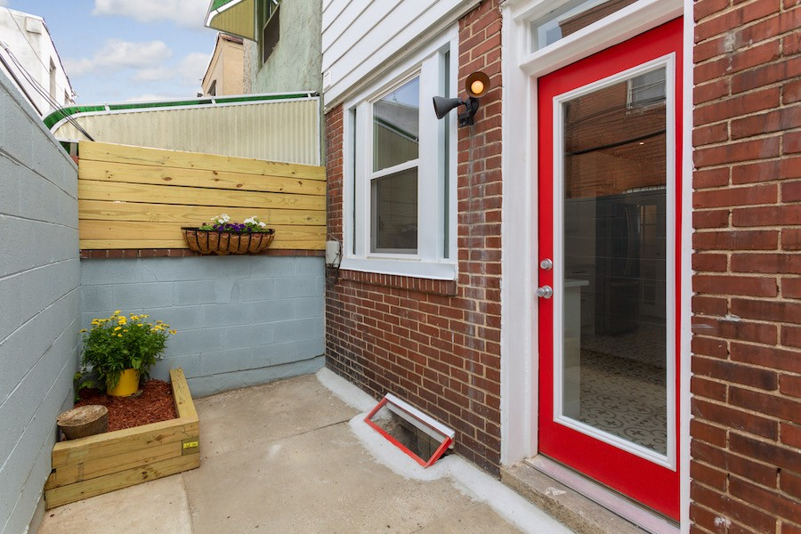 house for sale point breeze rowhouse rehab rear patio