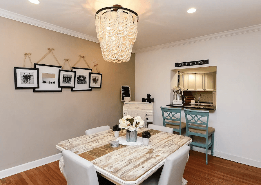 house for sale rittenhouse rehabbed row dining room