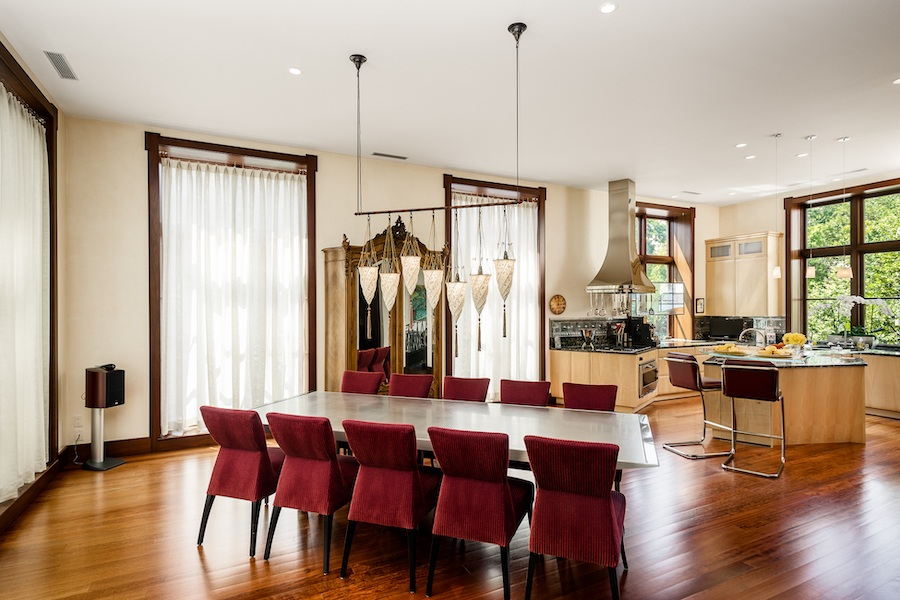house for sale society hill moderne mansion dining room