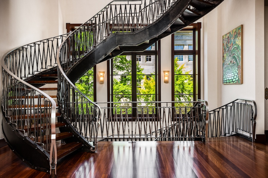 house for sale society hill moderne mansion grand staircase