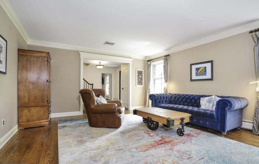 house for sale villanova french colonial family room