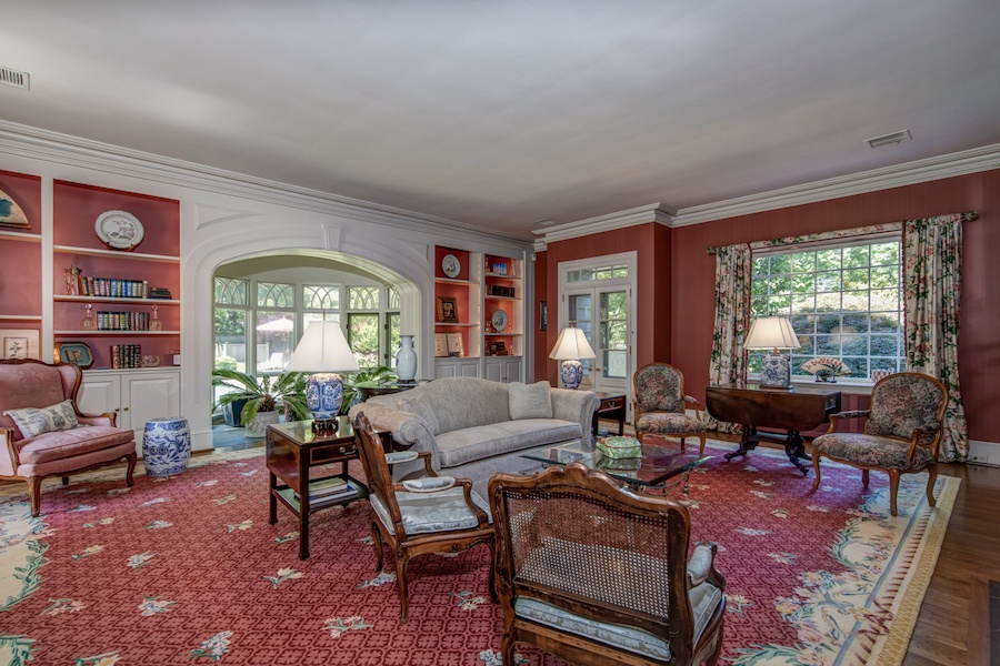 house for sale wyndmoor colonial cape living room