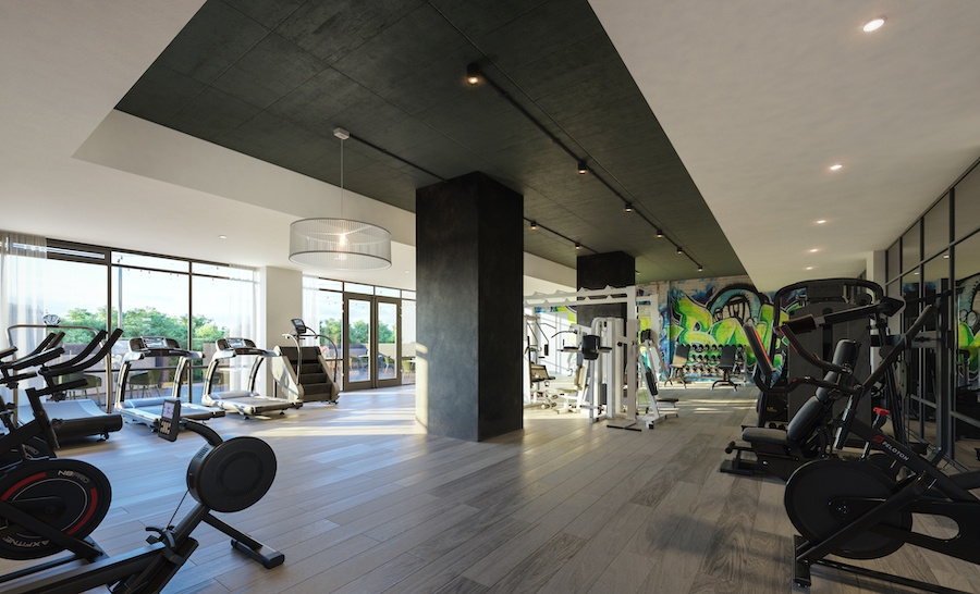 the irvine apartment profile fitness center