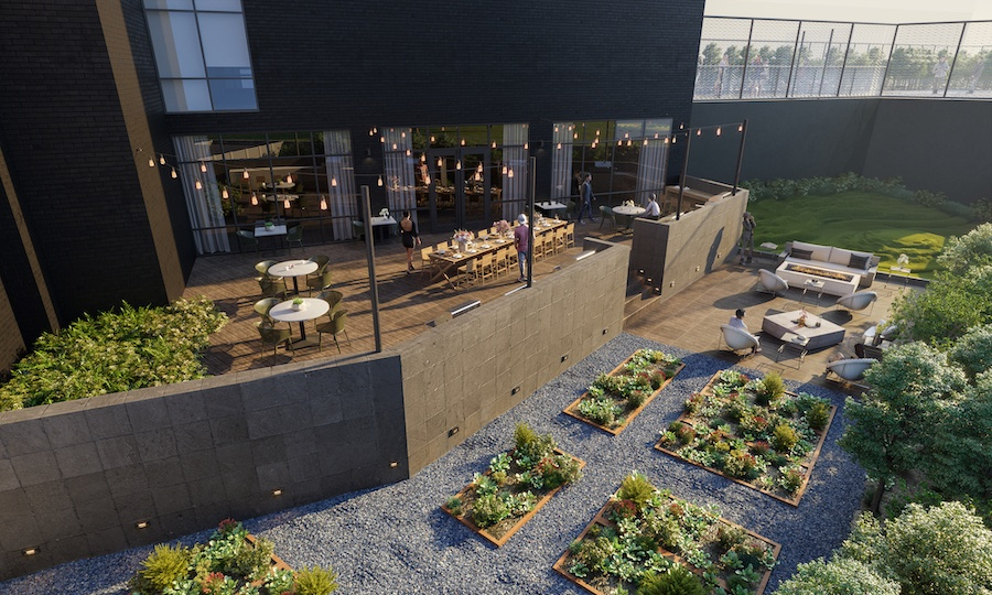 the irvine apartment profile amenity-floor terrace and dog park