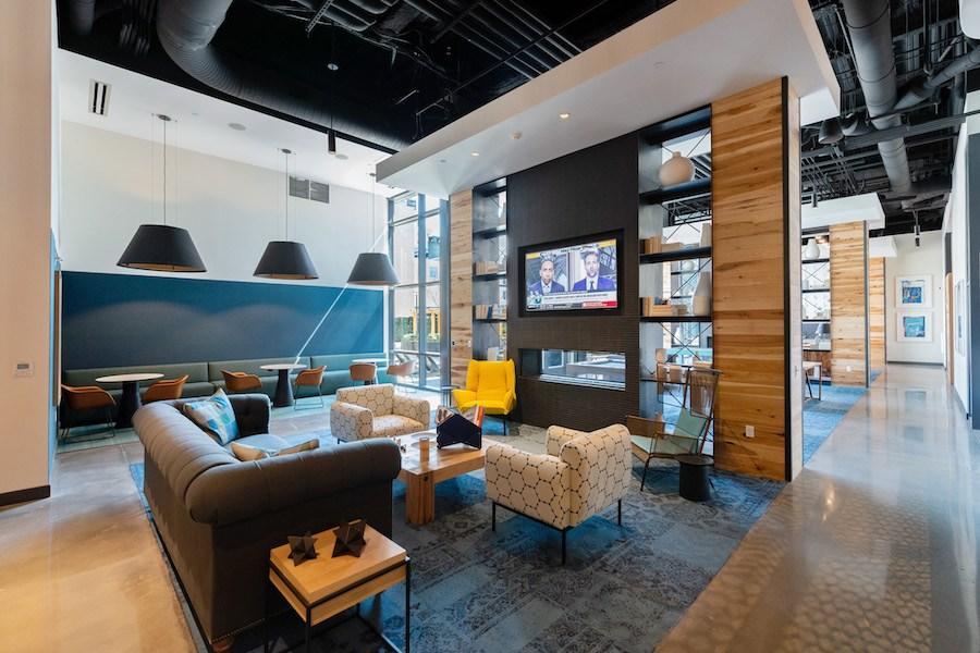 the hamilton apartment profile video lounge