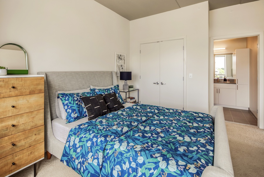 the hamilton apartment profile model 1-bedroom bedroom