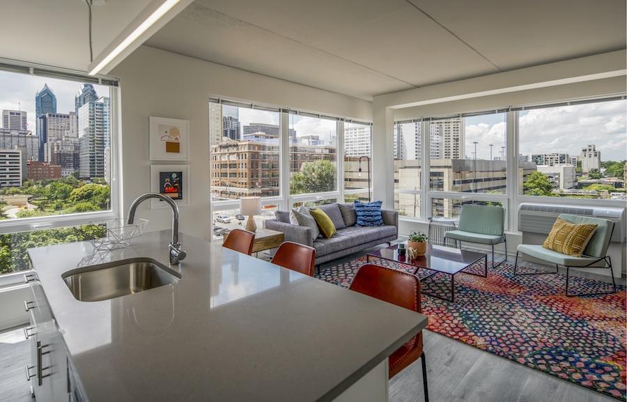 the hamilton apartment profile model 2-bedroom kitchen