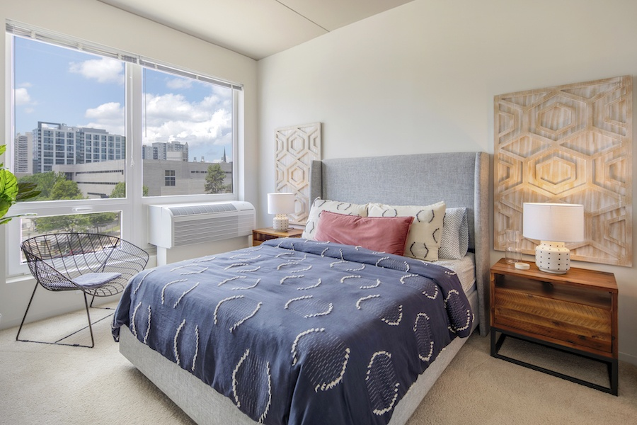 the hamilton apartment profile model 2-bedroom bedroom