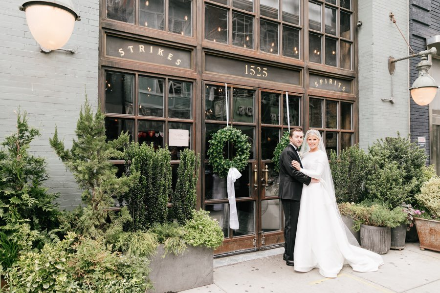 Harp and Crown bride and groom