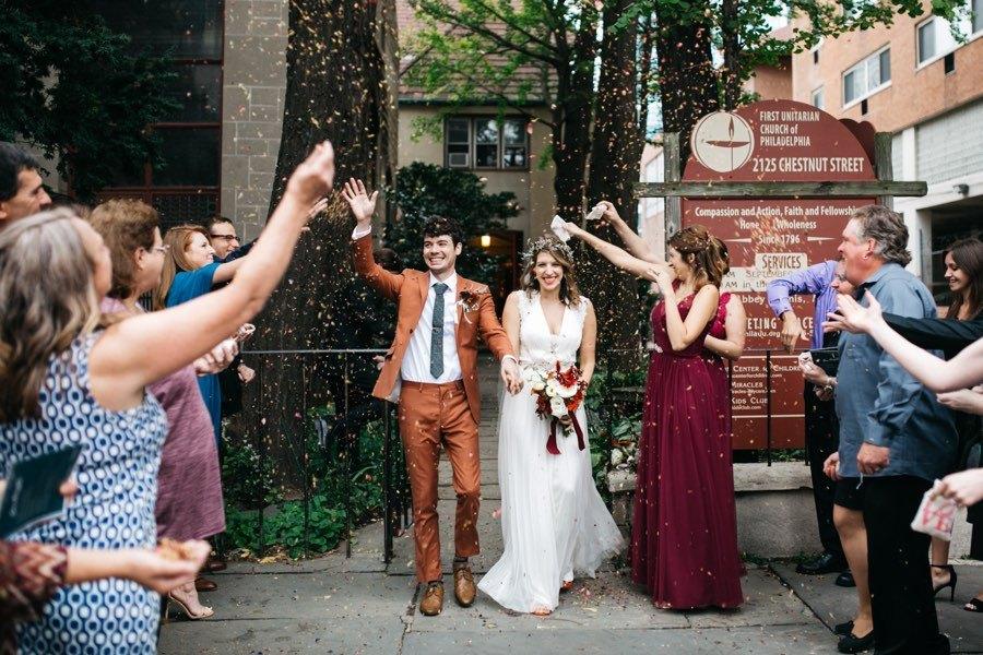 Wedding ceremony send off