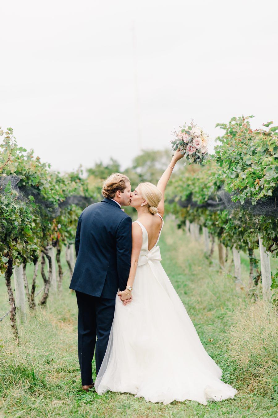 Isaac Smith Vineyard bride and groom