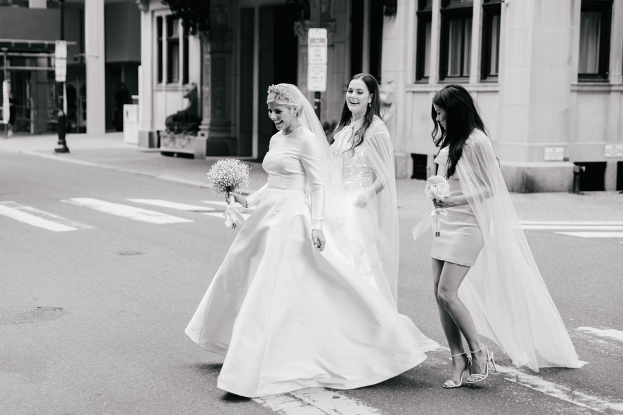 Bride and bridesmaids in Philadelphia