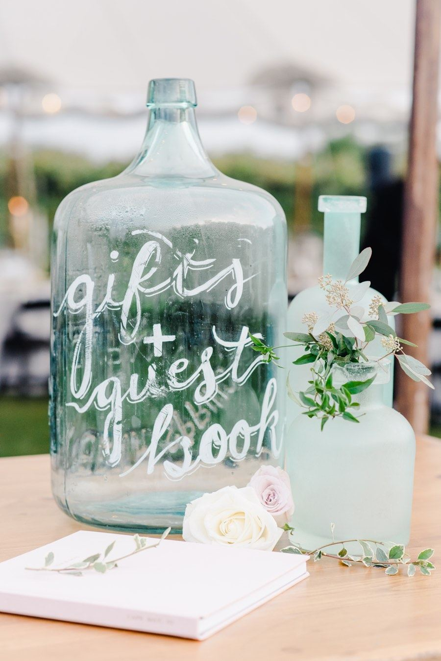 Romantic guest book table