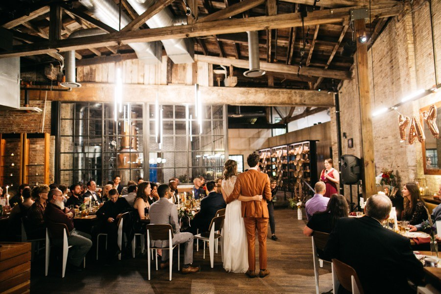 A Modern Wedding At La Colombe Coffee Shop In Fishtown