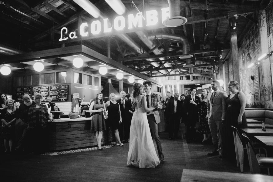 La Colombe wedding reception dance