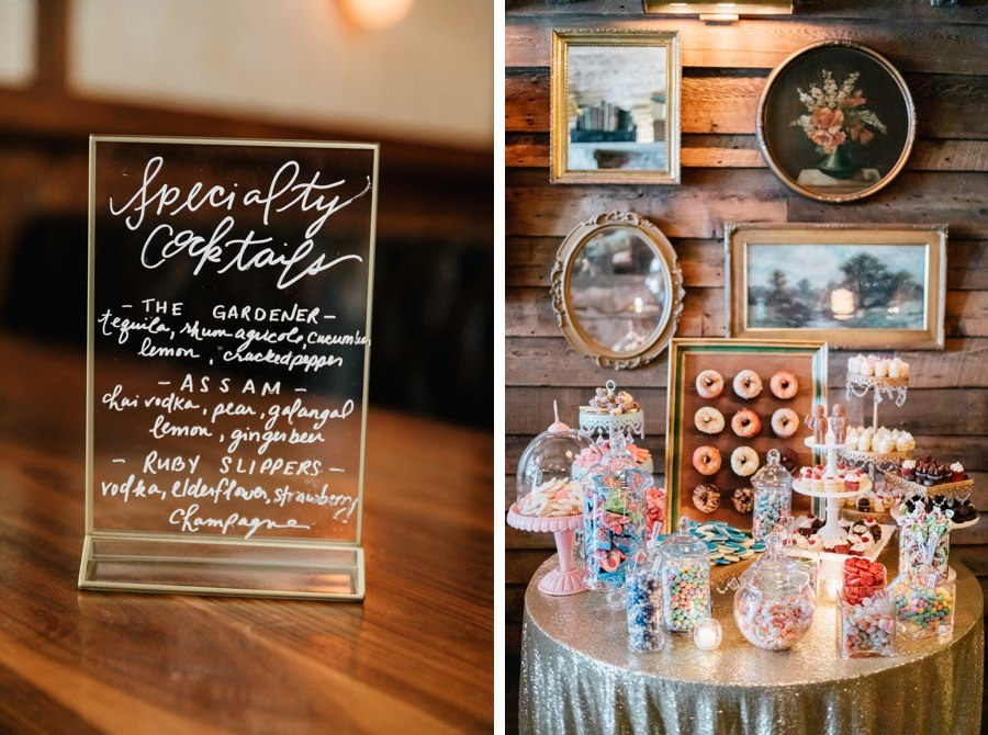 Reception dessert table