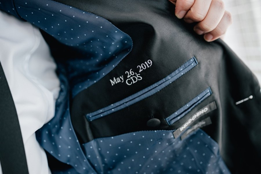 Embroidered tux jacket