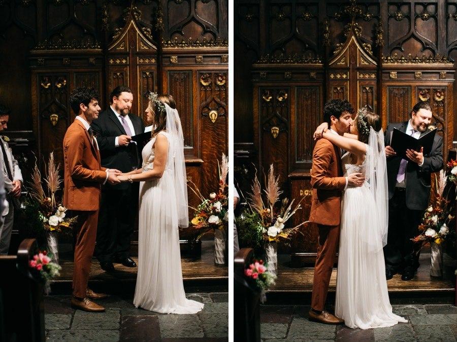 First Unitarian Church of Philadelphia wedding ceremony