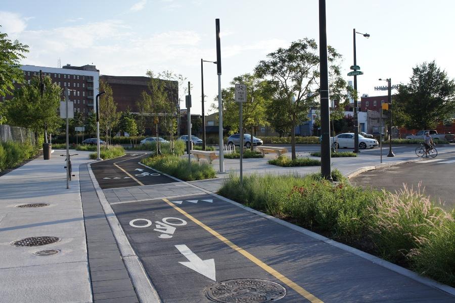 two-way protected bike lane