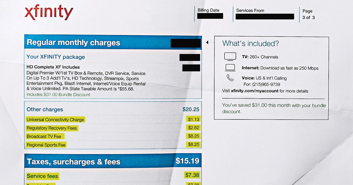 All Those Maddening Comcast Bill Fees, Explained