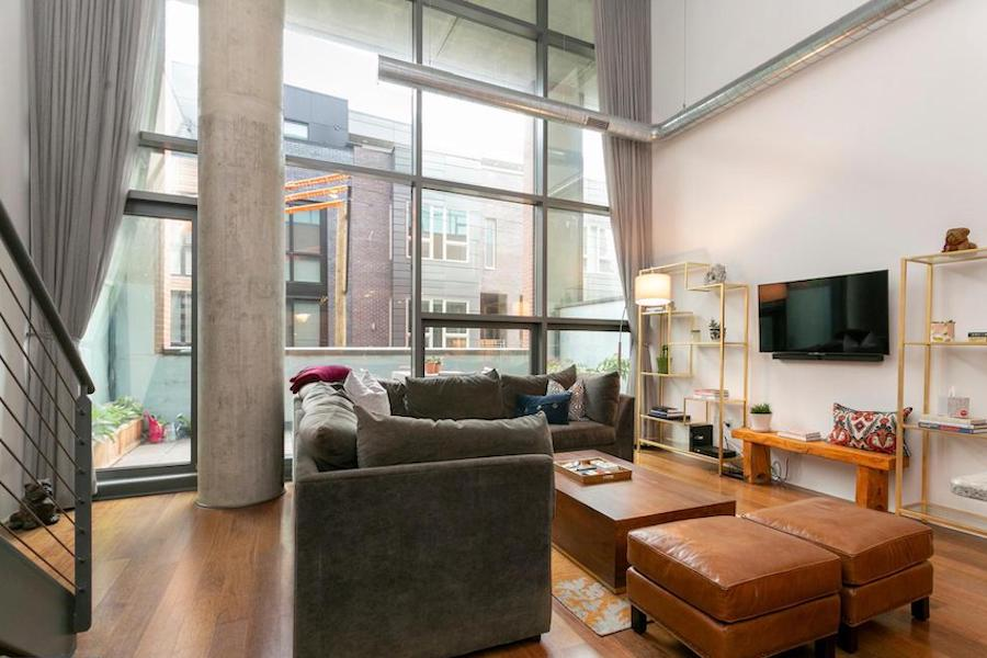 condo for sale hawthorne loft condo living room