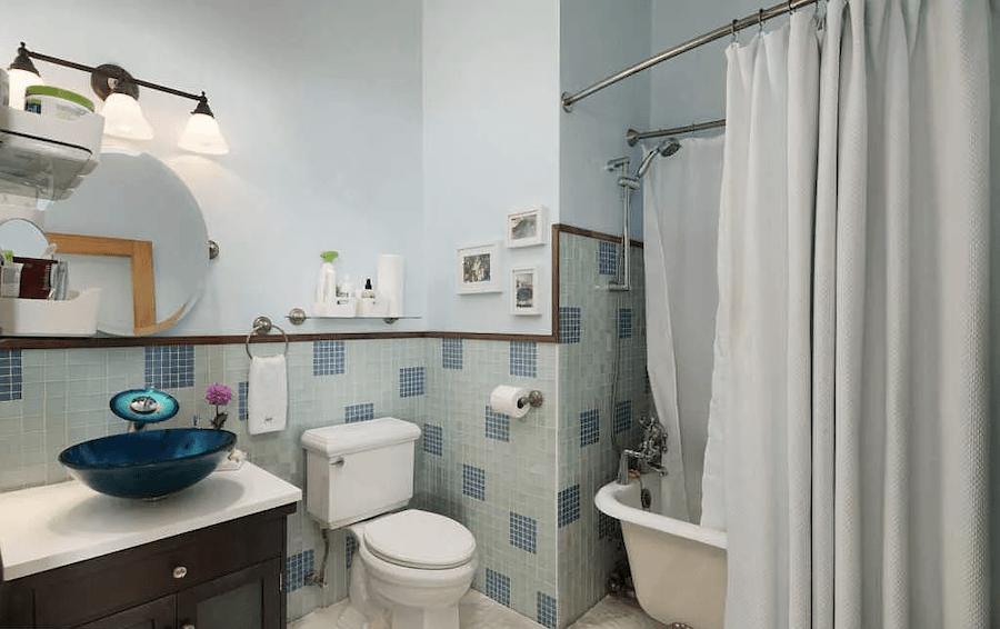 condo for sale logan square loft bathroom