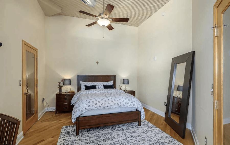 condo for sale logan square loft bedroom