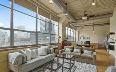condo for sale logan square loft main living area