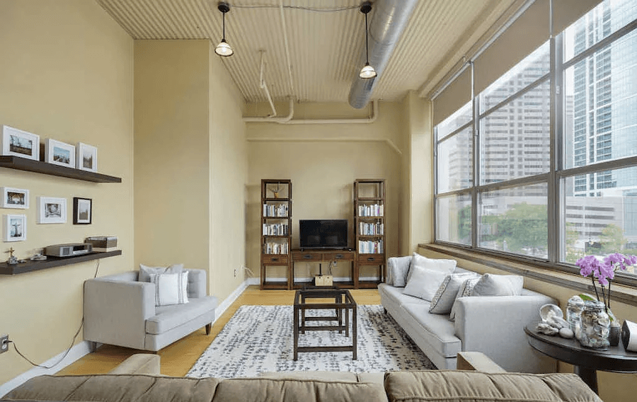 condo for sale logan square loft living room east end