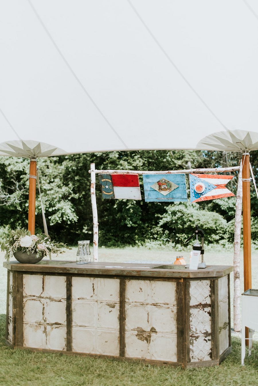 flag wedding decor