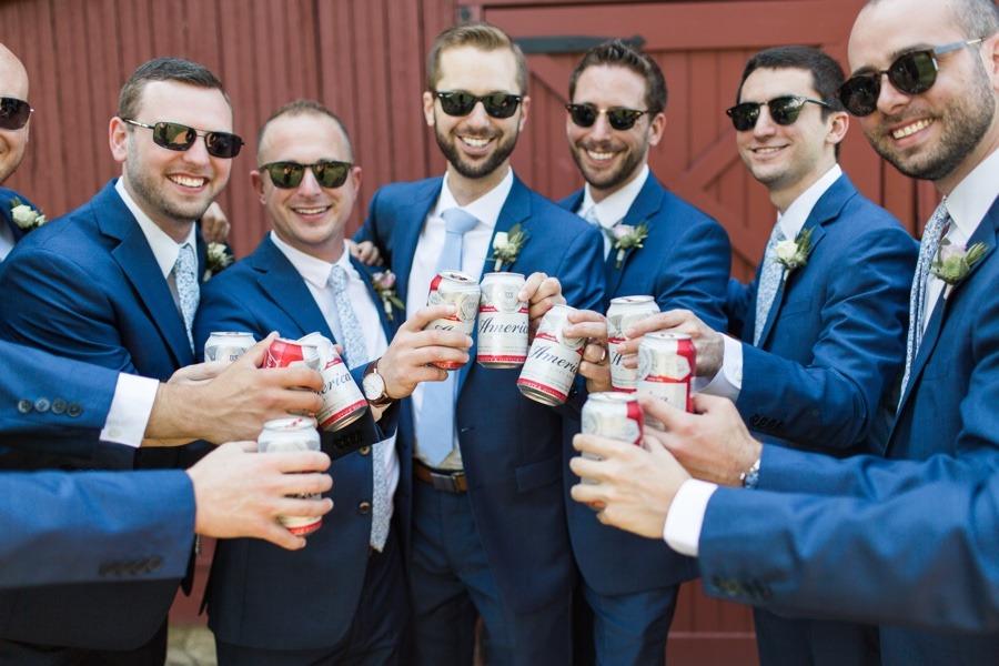 groomsmen budweiser