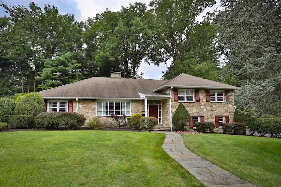 house for sale abington midcentury split-level exterior front