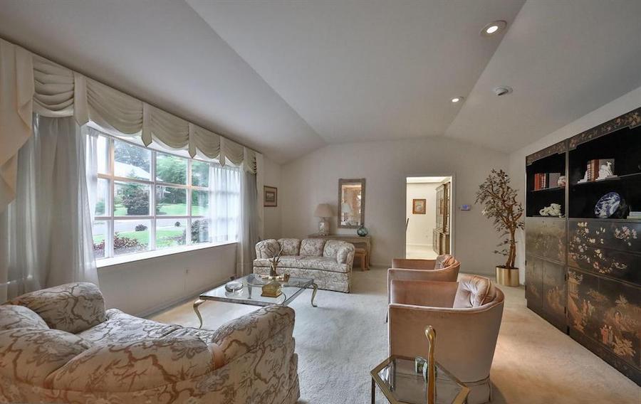 house for sale abington midcentury split-level living room