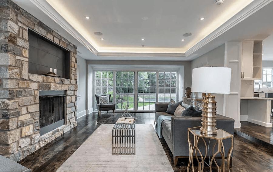 house for sale bryn mawr rebuilt tudor family room