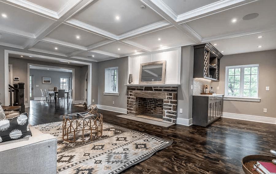 house for sale bryn mawr rebuilt tudor living room