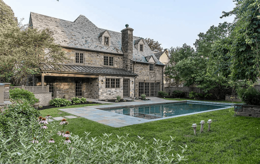 house for sale bryn mawr rebuilt tudor pool and terrace
